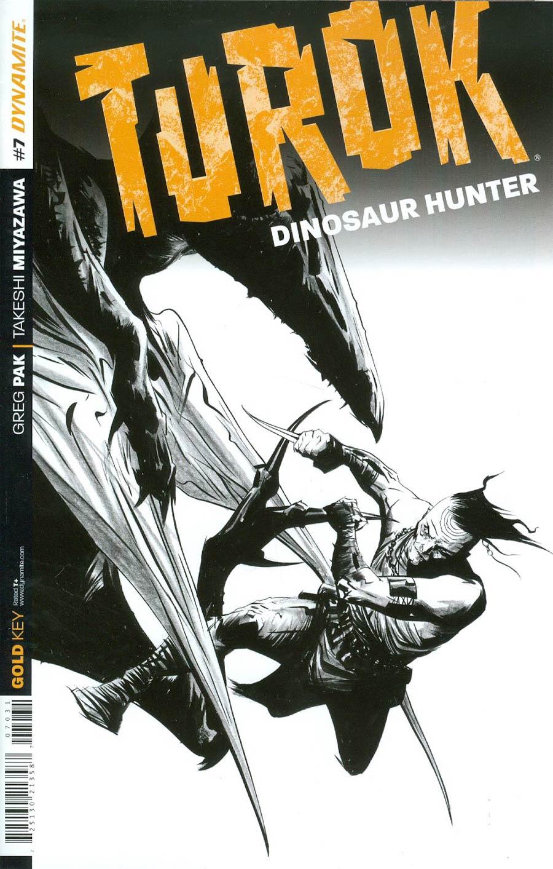 Turok Dinosaur Hunter Vol 2 #7 Cover D Incentive Jae Lee Black & White Cover