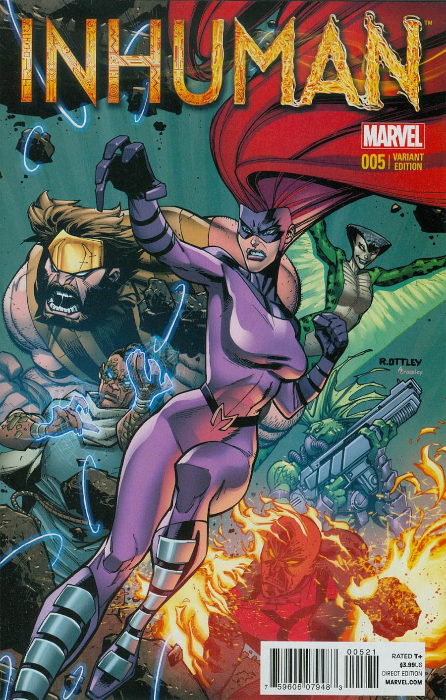 Inhuman #5 Cover B Incentive Ryan Ottley Variant Cover
