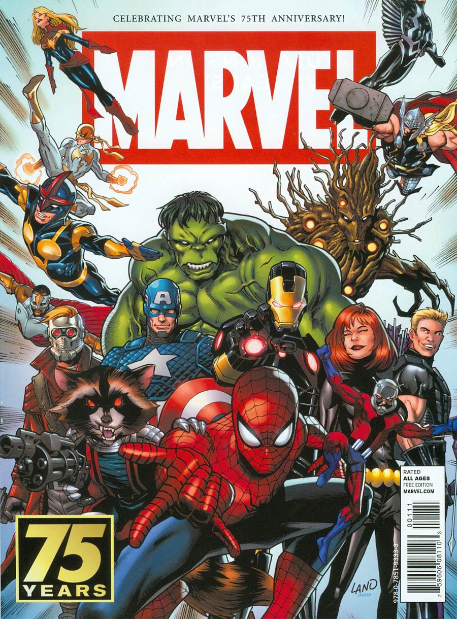 Marvel 75th Anniversary Magazine Special #1 Cover A Greg Land Marvel Universe Cover