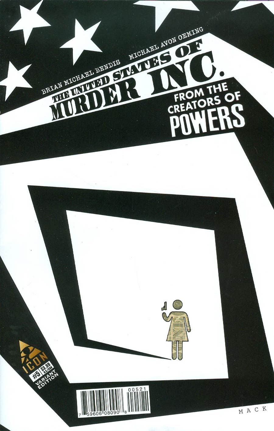 United States Of Murder Inc #5 Cover B Incentive David Mack Variant Cover