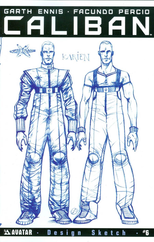 Caliban #6 Cover E Incentive Design Sketch Cover