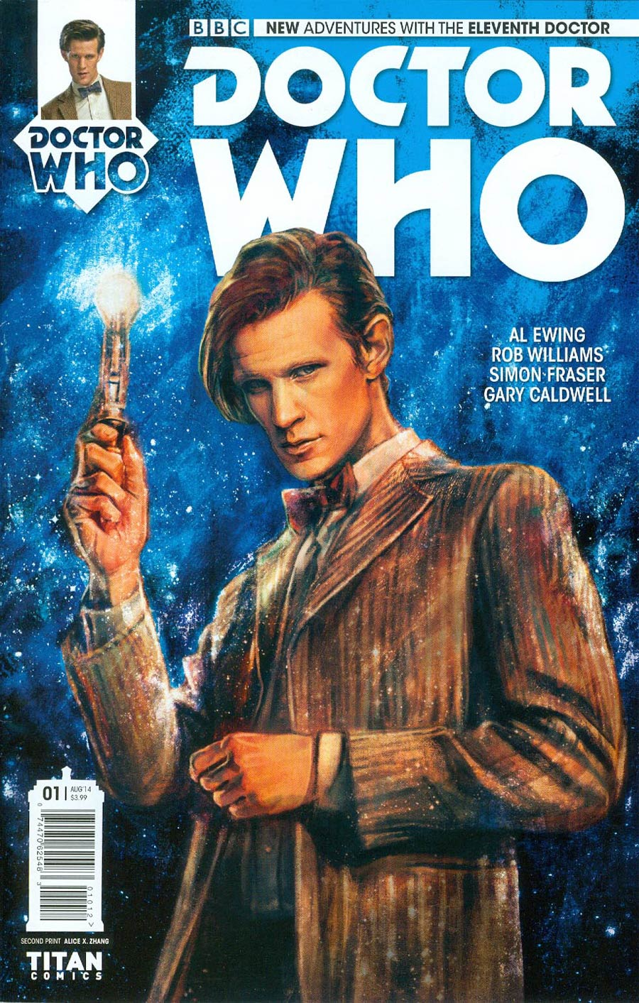 Doctor Who 11th Doctor #1 Cover J 2nd Ptg Alice X Zhang Variant Cover