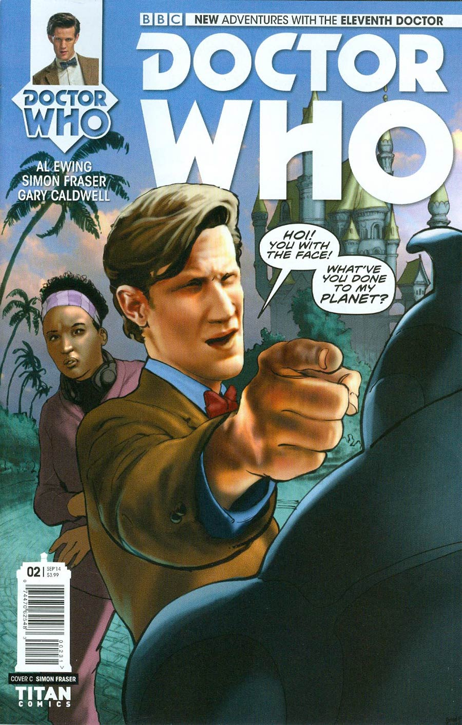 Doctor Who 11th Doctor #2 Cover C Incentive Simon Fraser Color Variant Cover