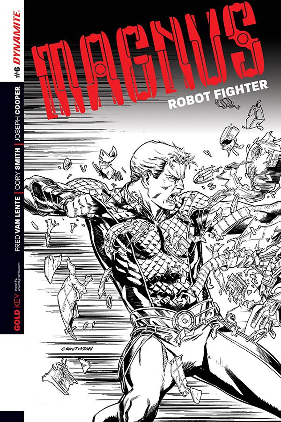 Magnus Robot Fighter Vol 4 #6 Cover D Incentive Cory Smith Black & White Cover