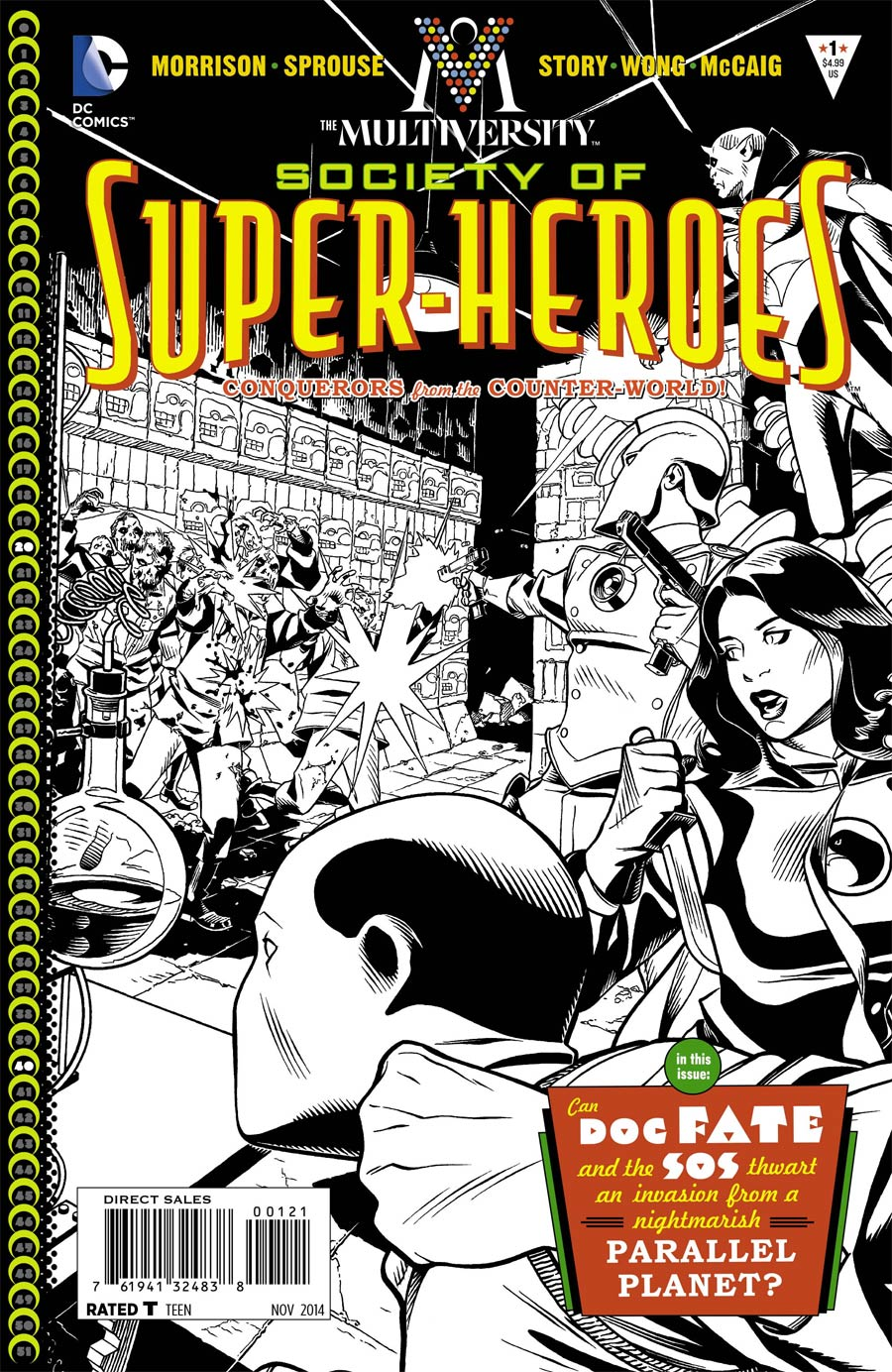 Multiversity Society Of Super-Heroes Conquerors Of The Counter-World #1 Cover B Incentive Chris Sprouse Black & White Cover