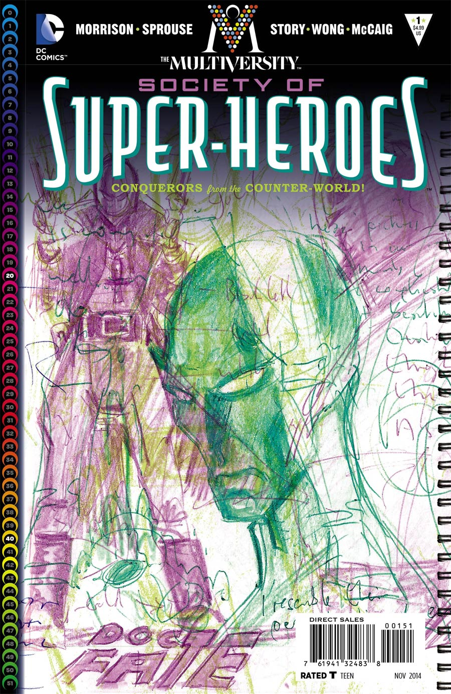 Multiversity Society Of Super-Heroes Conquerors Of The Counter-World #1 Cover E Incentive Grant Morrison Variant Cover