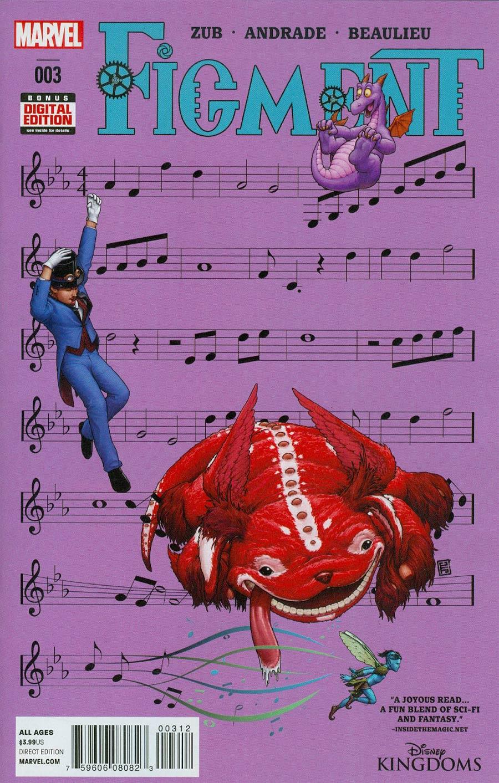 Disney Kingdoms Figment #3 Cover B 2nd Ptg John Tyler Christopher Variant Cover
