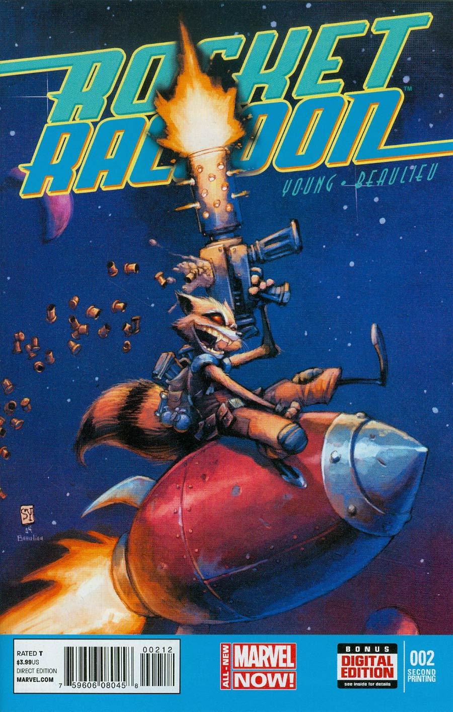 Rocket Raccoon Vol 2 #2 Cover C 2nd Ptg Skottie Young Variant Cover