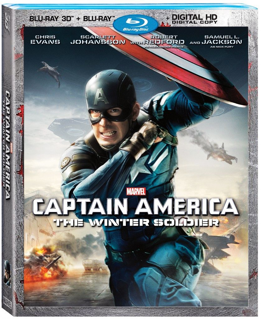 Captain America The Winter Soldier 3D Blu-ray DVD