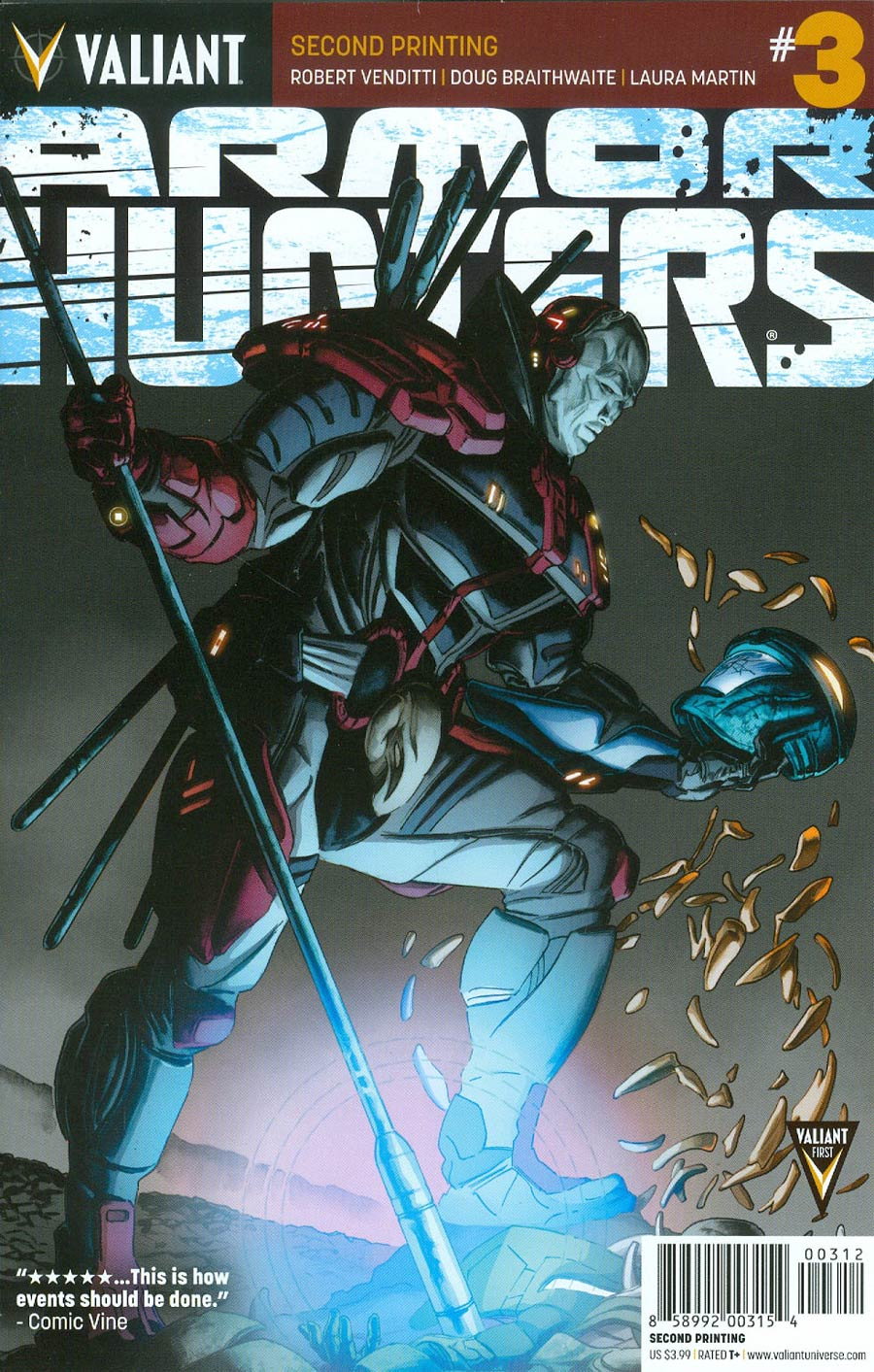 Armor Hunters #3 Cover F 2nd Ptg Doug Braithwaite Cover