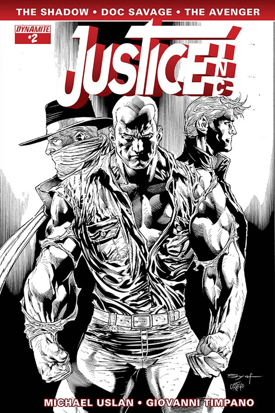 Justice Inc Vol 3 #2 Cover F Incentive Ardian Syaf Black & White Cover