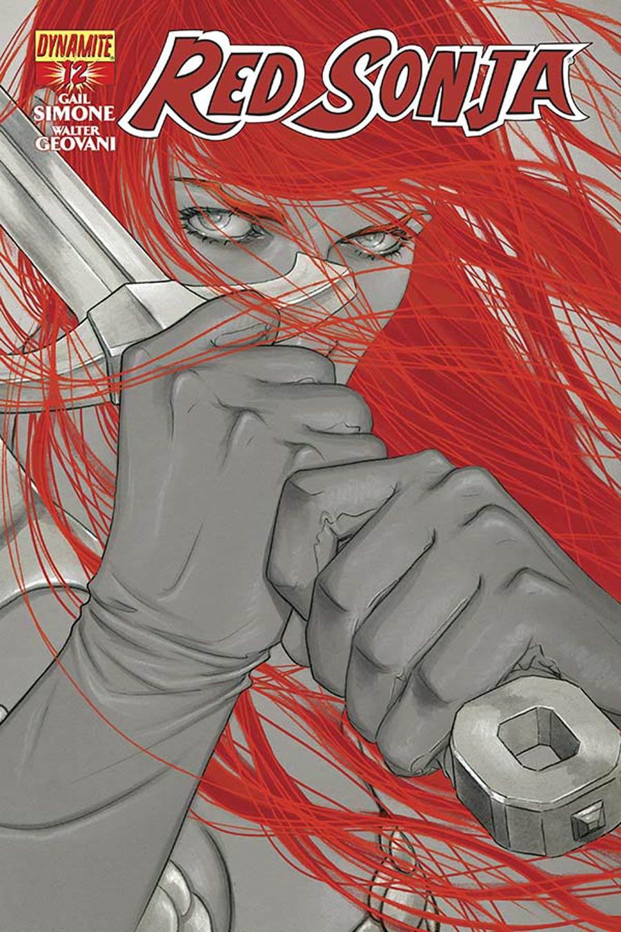 Red Sonja Vol 5 #12 Cover D Incentive Jenny Frison Black & White Cover