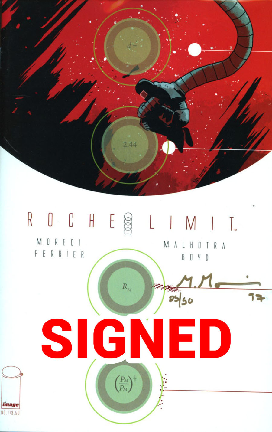 Roche Limit #1 Cover B DF Signed By Michael Moreci
