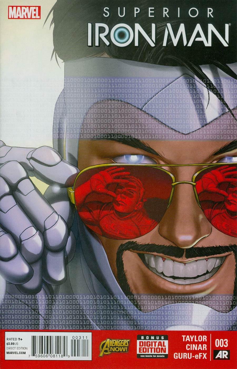 Superior Iron Man #3 Cover A Regular Yildiray Cinar Cover (AXIS Tie-In)