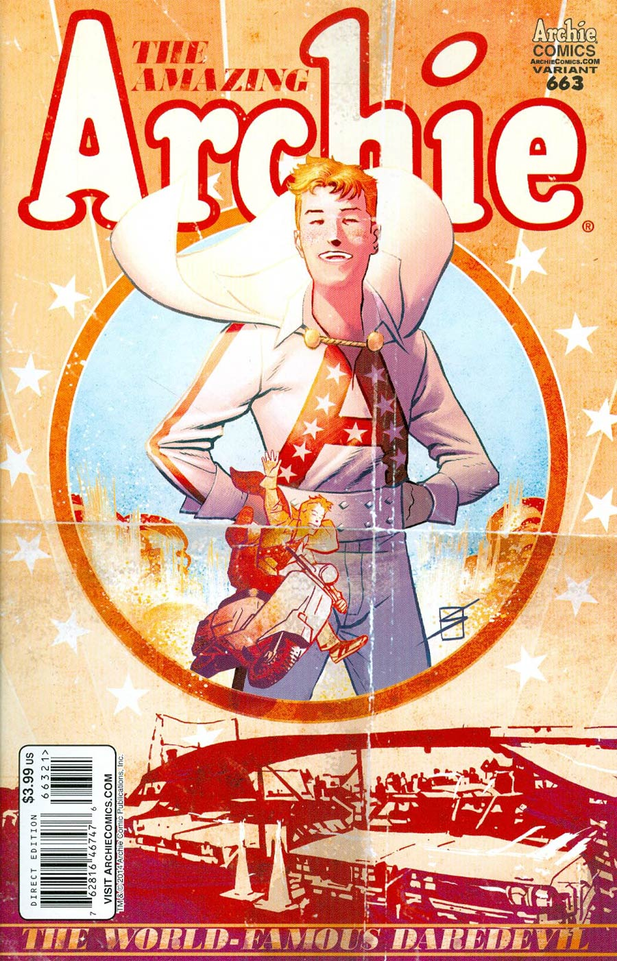 Archie #663 Cover B Variant Evel Knievel Poster Cover