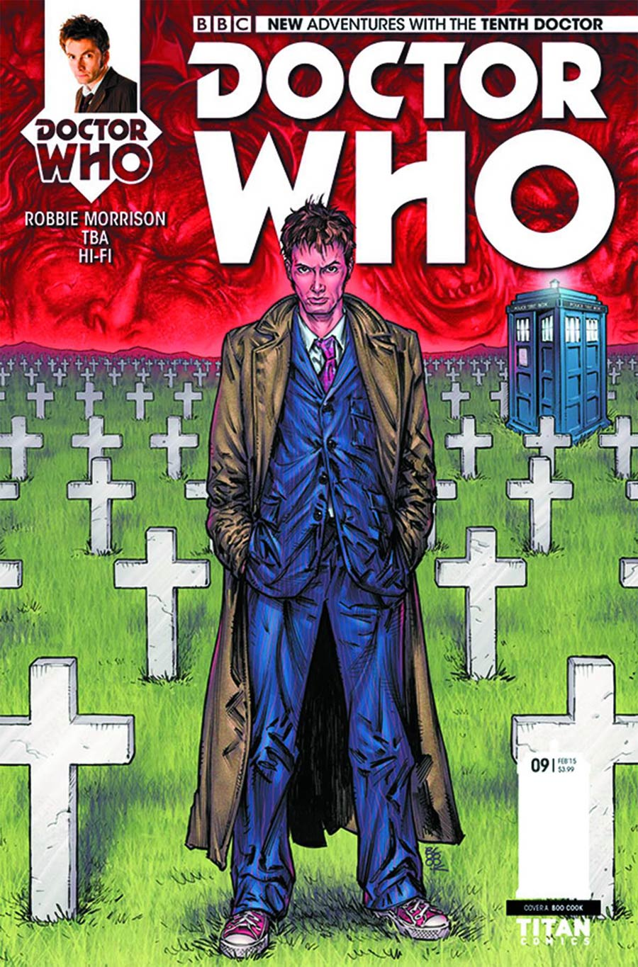 Doctor Who 10th Doctor #9 Cover A Regular Boo Cook Cover