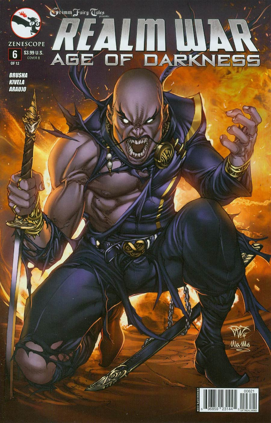 Grimm Fairy Tales Presents Realm War #6 Cover B Paolo Pantalena (Age Of Darkness Tie-In)