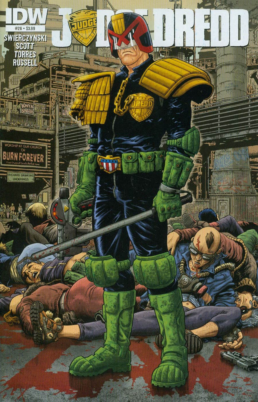 Judge Dredd Vol 4 #26 Cover A Regular Mark Sexton Cover