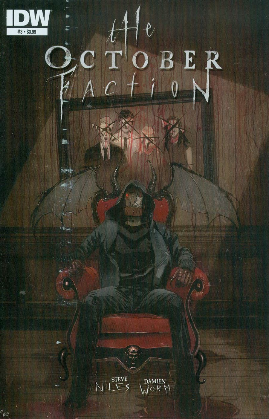 October Faction #3 Cover A Regular Damien Worm Cover