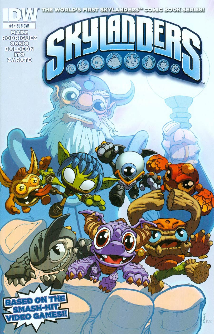 Skylanders #3 Cover B Variant Mike Bowden Subscription Cover