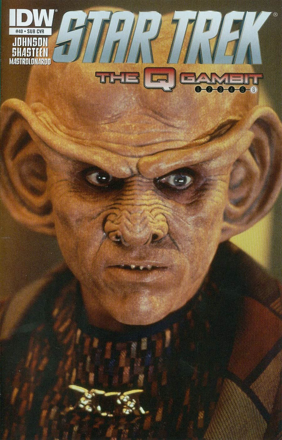 Star Trek (IDW) #40 Cover B Variant Quark Photo Subscription Cover