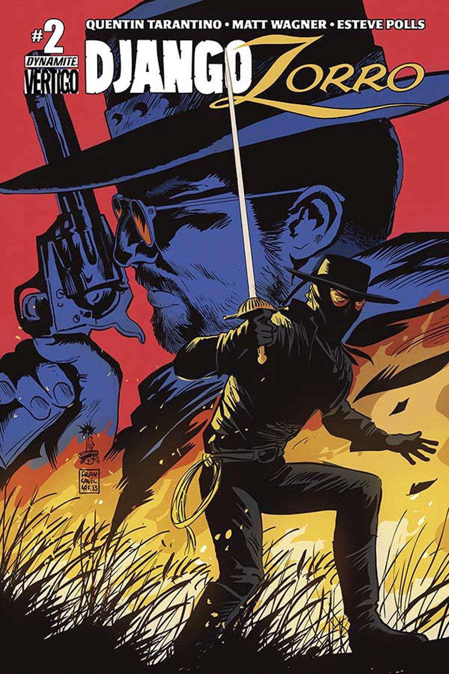 Django Zorro #2 Cover B Variant Francesco Francavilla Cover