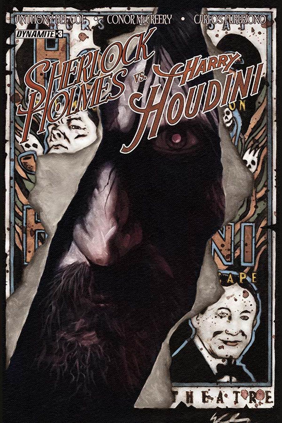 Sherlock Holmes vs Harry Houdini #3 Cover B Variant Colton Worley Cover