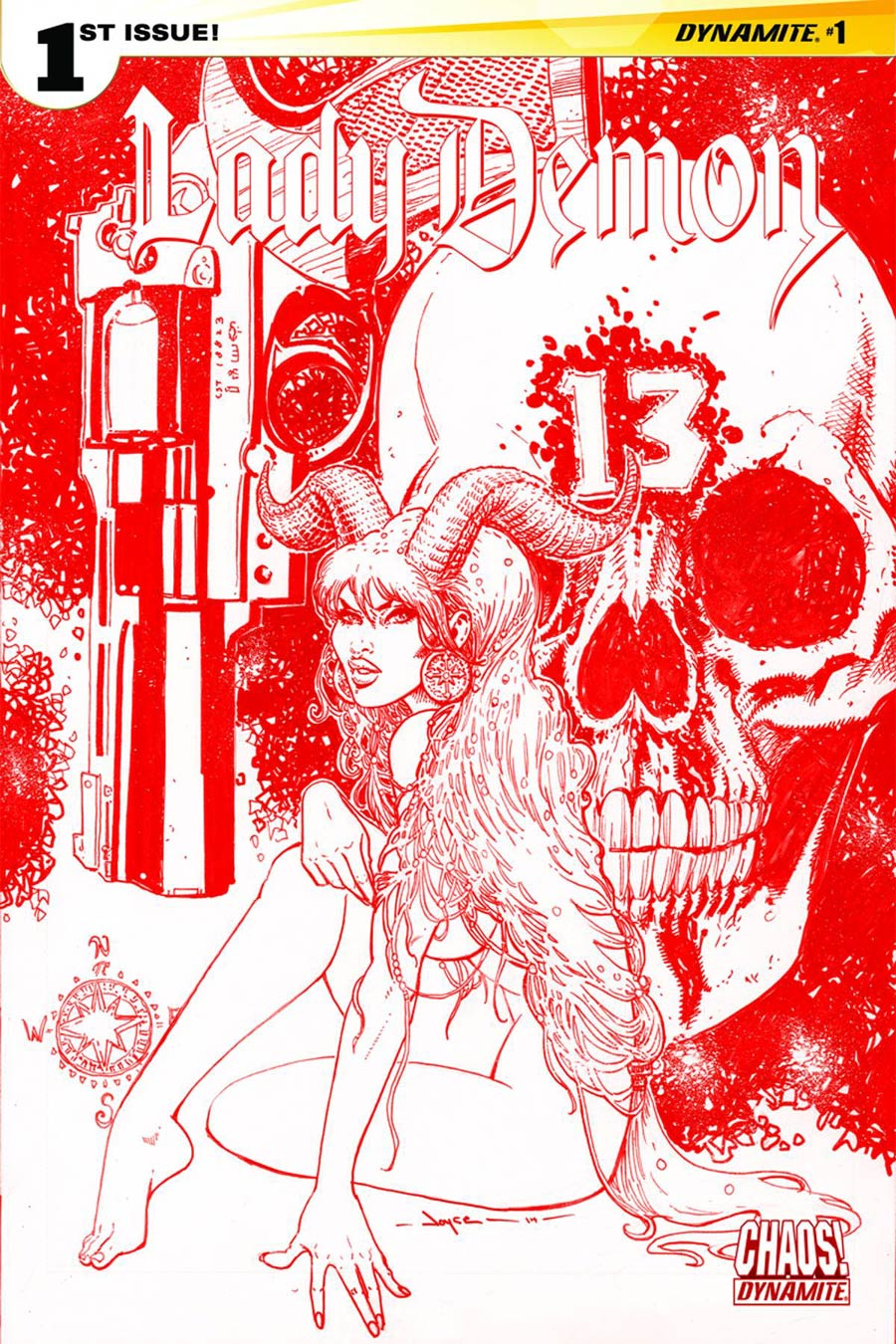 Lady Demon Vol 2 #1 Cover L Rare Joyce Chin Blood Red Cover