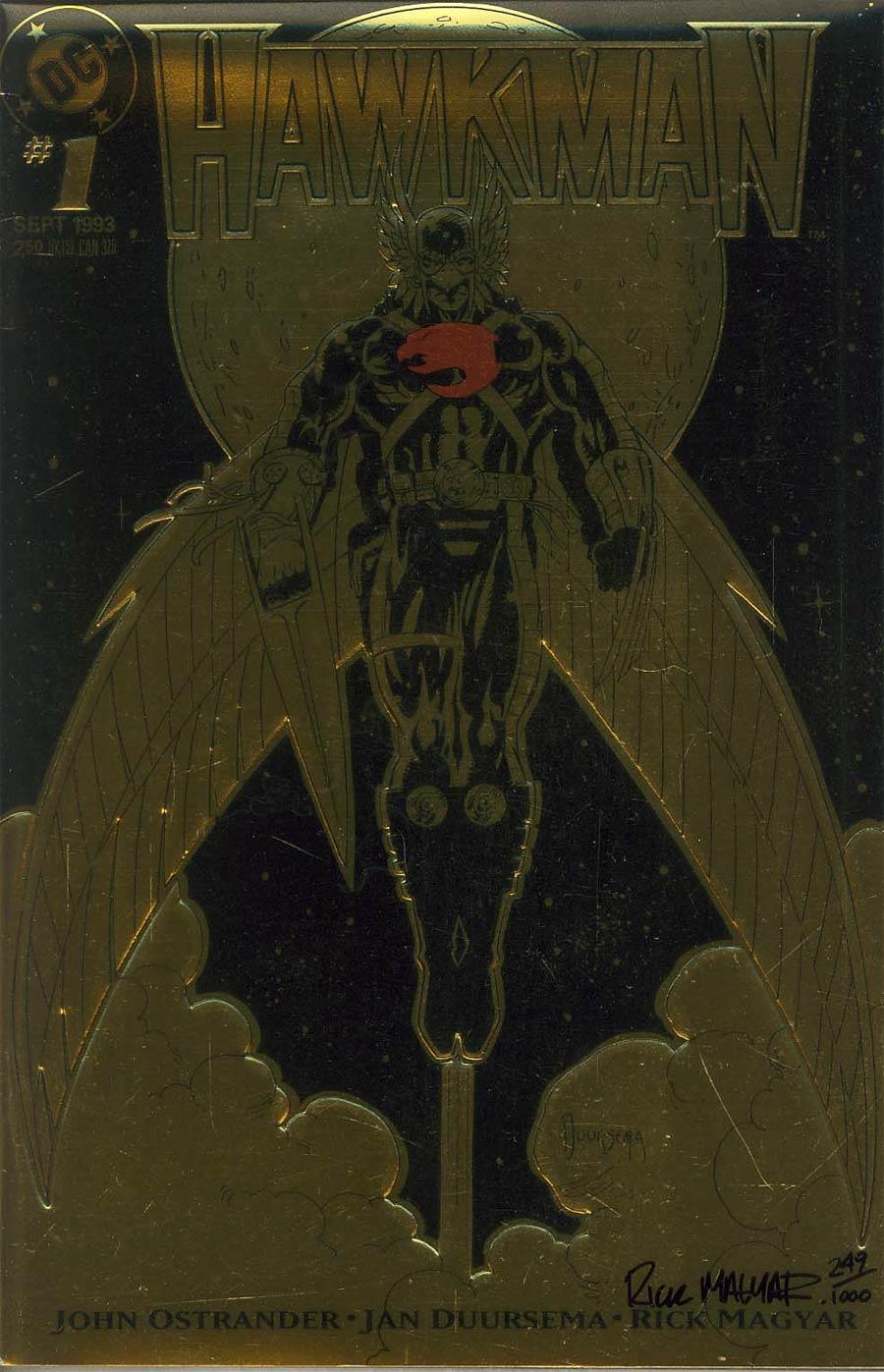 Hawkman Vol 3 #1 Cover B DF Signed Rick Magyar