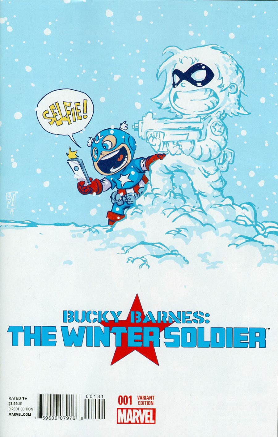 Bucky Barnes Winter Soldier #1 Cover B Variant Skottie Young Baby Cover