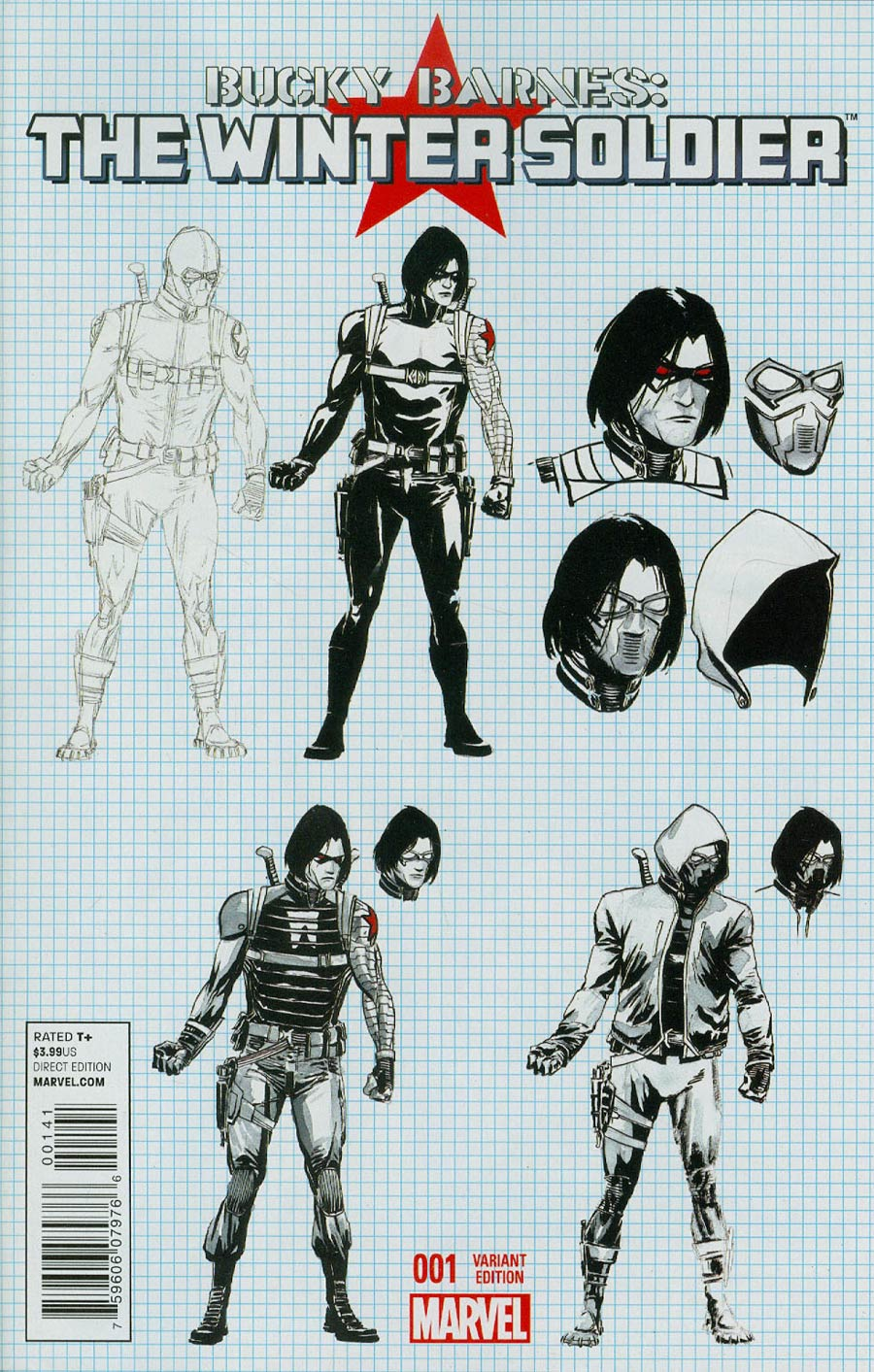 Bucky Barnes Winter Soldier #1 Cover D Incentive Marco Rudy Design Variant Cover