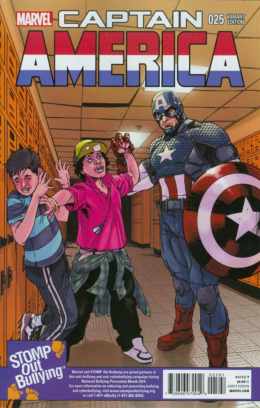Captain America Vol 7 #25 Cover C Incentive Stomp Out Bullying Variant Cover