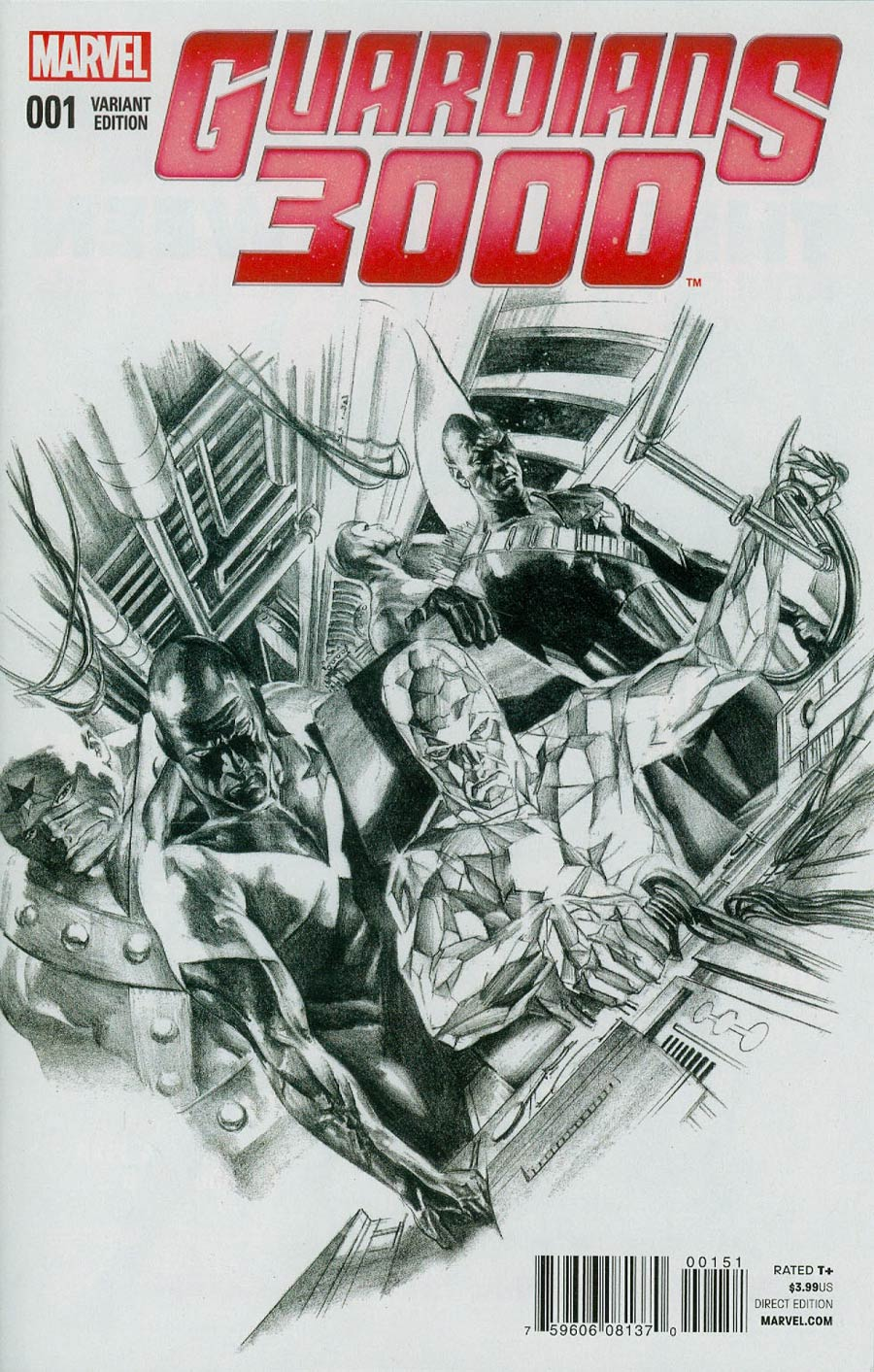 Guardians 3000 #1 Cover F Incentive Alex Ross Sketch Cover