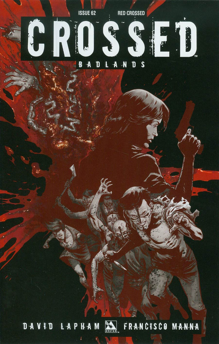 Crossed Badlands #62 Cover E Incentive Red Crossed Edition