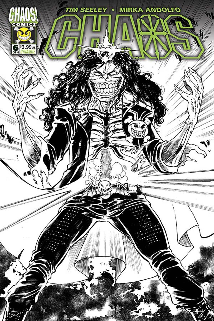 Chaos #6 Cover G Incentive Tim Seeley Black & White Cover