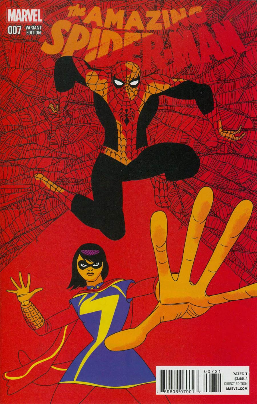 Amazing Spider-Man Vol 3 #7 Cover D Incentive Brian Pulido Variant Cover (Edge Of Spider-Verse Tie-In)