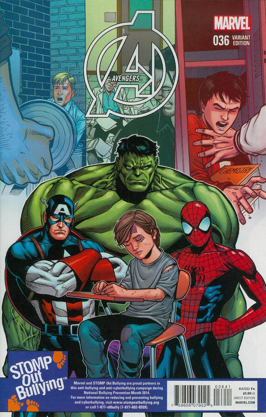 Avengers Vol 5 #36 Cover C Incentive Stomp Out Bullying Variant Cover (Time Runs Out Tie-In)