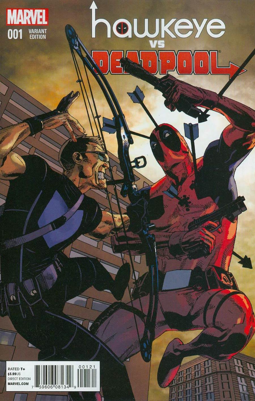 Hawkeye vs Deadpool #1 Cover B Incentive Jason Pearson Variant Cover