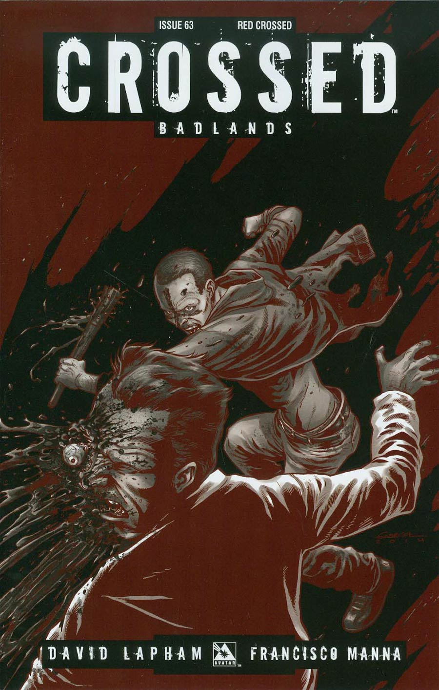 Crossed Badlands #63 Cover E Incentive Red Crossed Edition