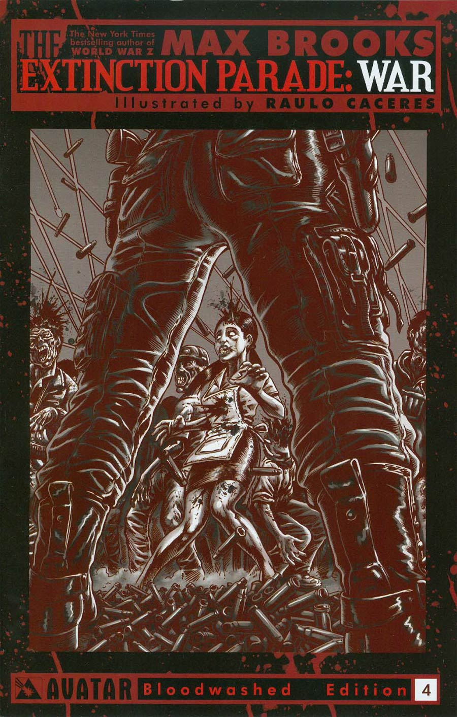 Extinction Parade War #4 Cover E Incentive Bloodwashed Cover