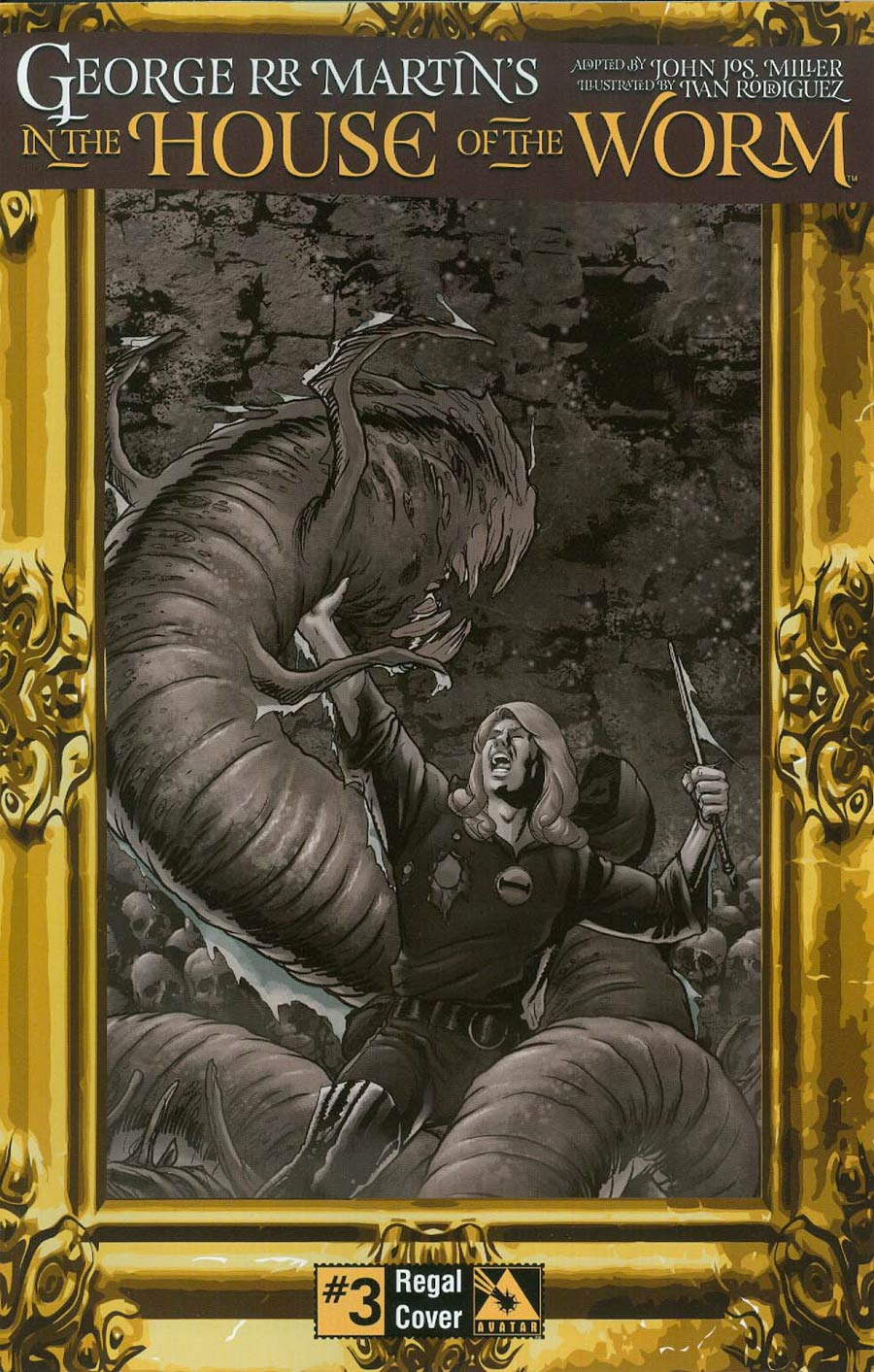 George RR Martin In The House Of The Worm #3 Cover D Incentive Regal Cover