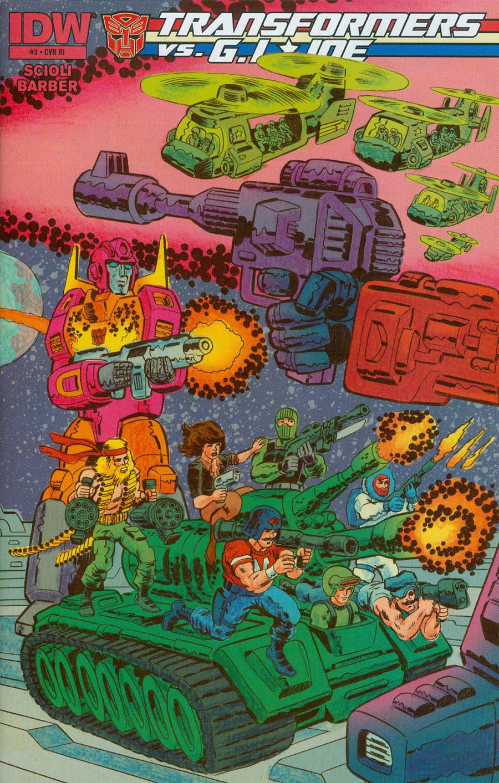 Transformers vs GI Joe #3 Cover C Incentive Tom Scioli Connecting Variant Cover (2 Of 3)