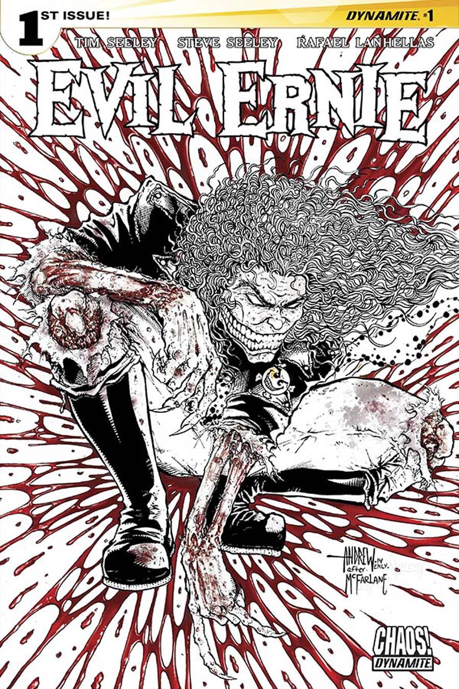 Evil Ernie Vol 4 #1 Cover I Incentive Andrew Mangum Black & White & Blood Variant Cover