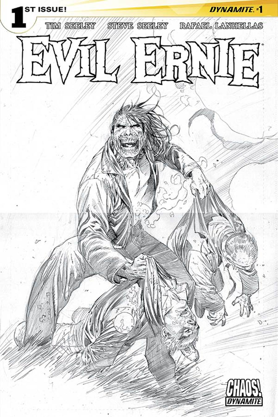Evil Ernie Vol 4 #1 Cover L Incentive Ardian Syaf Black & White Cover