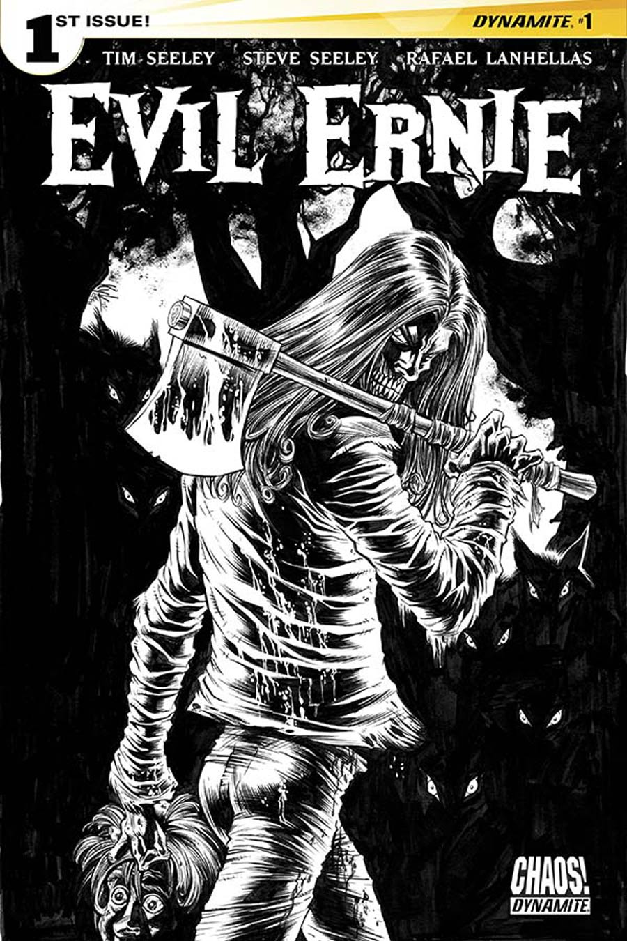 Evil Ernie Vol 4 #1 Cover M Incentive Kyle Hotz Black & White Cover