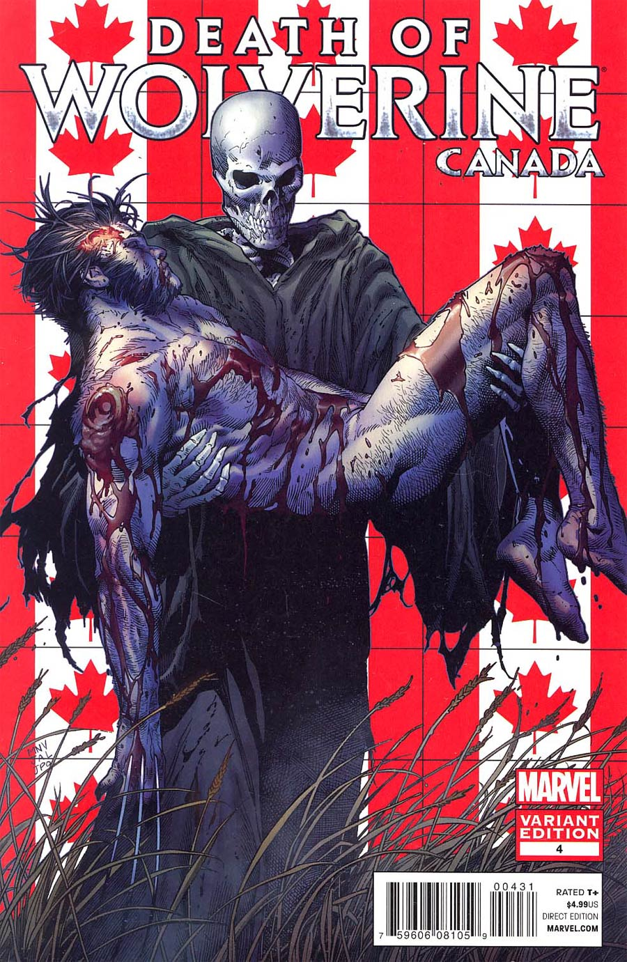 Death Of Wolverine #4 Cover C Variant Steve McNiven Canada Cover