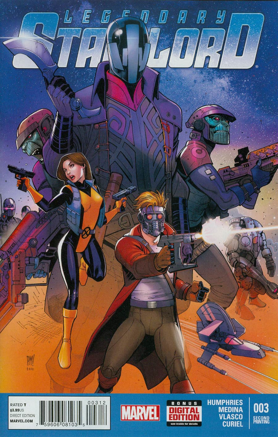 Legendary Star-Lord #3 Cover C 2nd Ptg Paco Medina Variant Cover