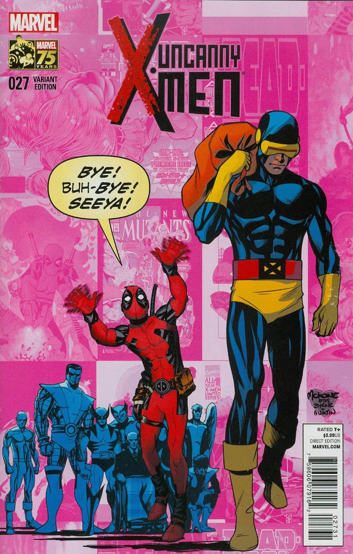 Uncanny X-Men Vol 3 #27 Cover D Incentive Deadpool 75th Anniversary Photobomb Variant Cover