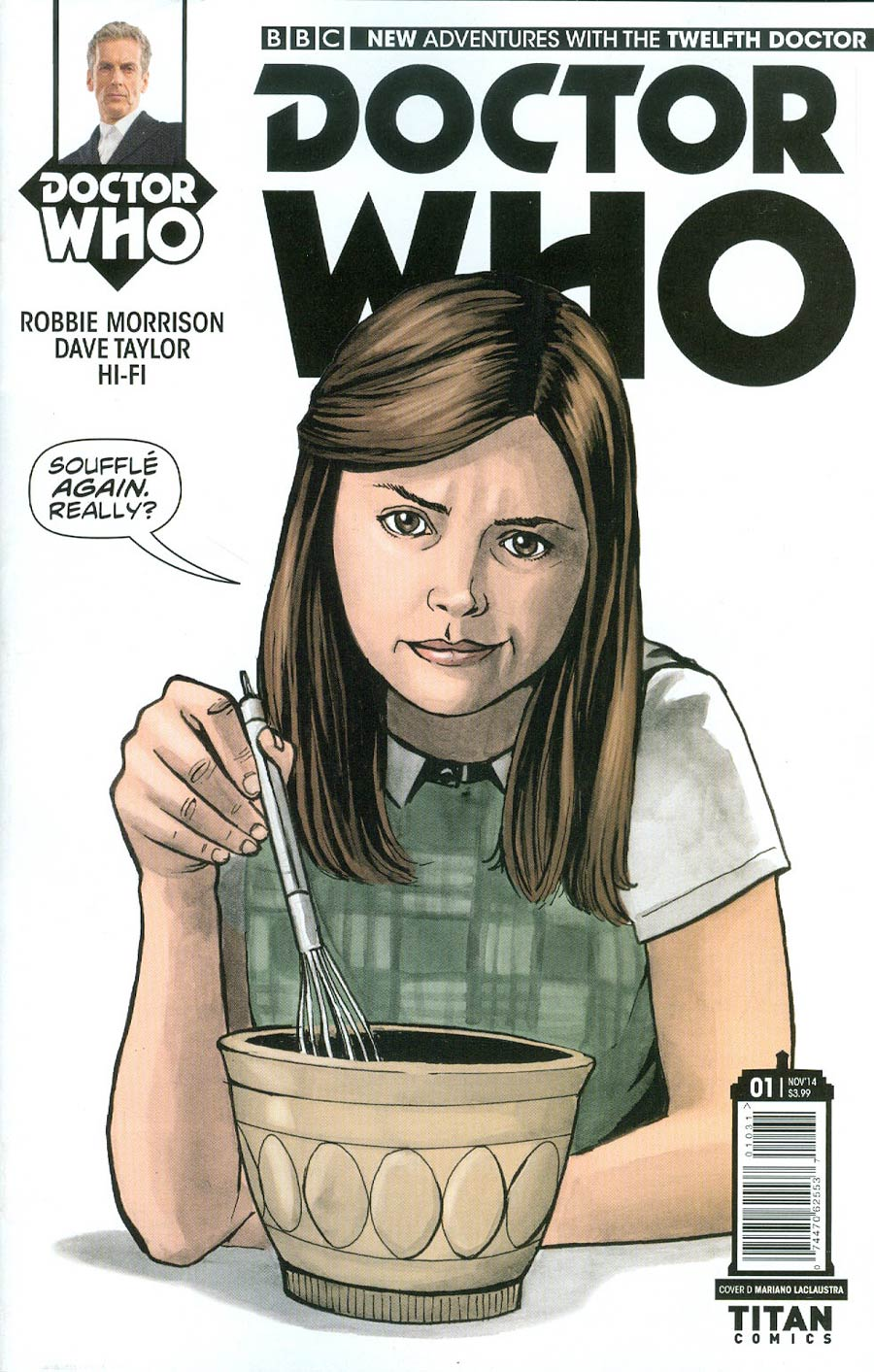 Doctor Who 12th Doctor #1 Cover E Incentive Mariano Laclaustra Variant Cover