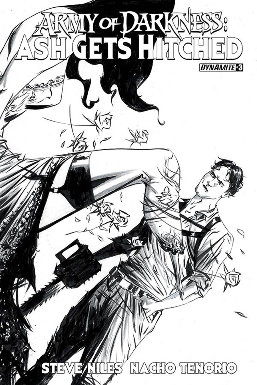 Army Of Darkness Ash Gets Hitched #3 Cover D Incentive Jae Lee Black & White Cover